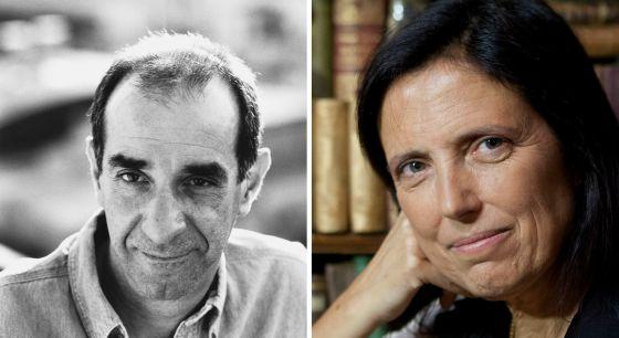 Marcelo Cohen, a la izquierda; Claudia Piñeiro, a la derecha.
