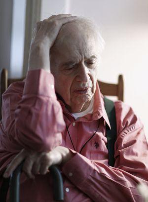 El crítico literario Harold Bloom en su casa de New Haven.