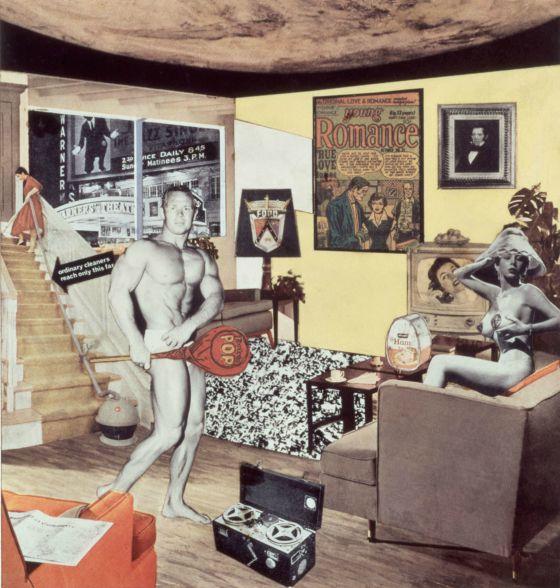 ¿Qué es lo que hace que las casas de hoy sean tan diferentes, tan atractivas?', 1956, de Richard Hamilton.