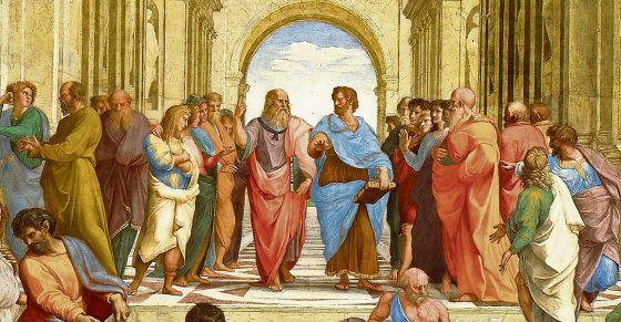 Platón y Aristóteles representados por Rafael en 'La escuela de Atenas'.