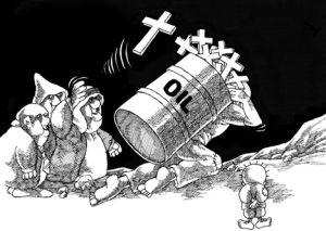 Viñeta del palestino Naji al Alí, el dibujante que murió asesinado en Londres en 1987.