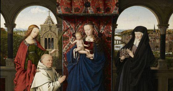 'La Virgen y el Niño con santos y un donante cartujo', de Jan van Eyck. / MICHAEL BODYCOMB