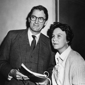El actor Gregory Peck y Harper Lee durante el rodaje de 'Matar a un ruiseñor'.