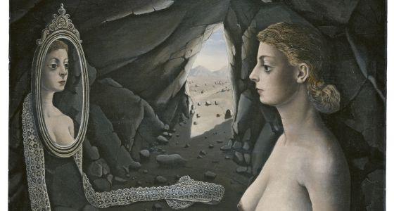 Mujer ante el espejo, obra de Delvaux de 1936.