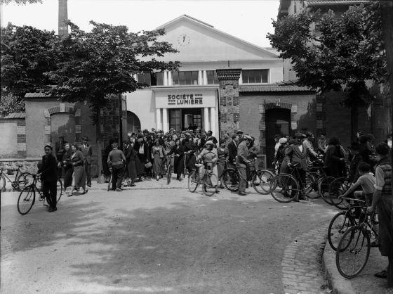 'Salida de los obreros de la fábrica Lumière'