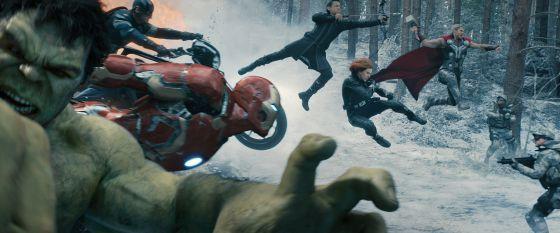 Imagen de la secuencia inicial de 'Los Vengadores: la era de Ultrón'.
