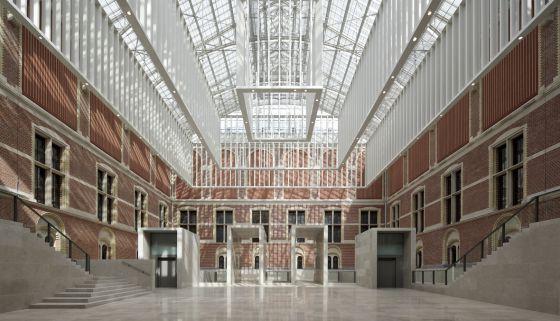 El espectacular atrio de 3.000 metros cuadrados del nuevo Rijksmuseum.