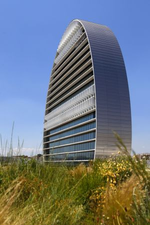 La nueva sede del BBVA en el barrio de las Tablas, en Madrid.