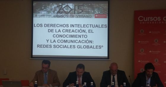 Un momento del curso sobre propiedad intelectual en El Escorial.