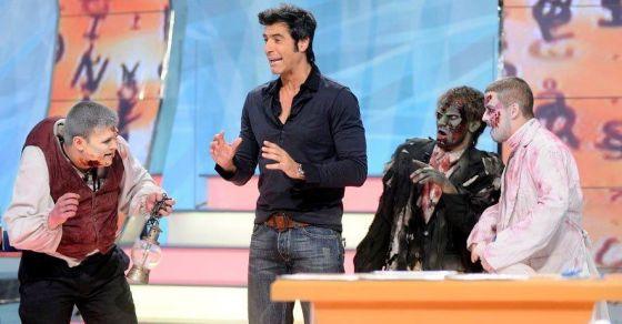 Jorge Fernández en un especial de Halloween de 'La ruleta de la suerte'.