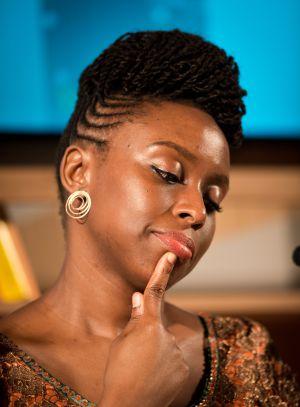 Chimamanda Ngozi Adichie, en la Feria del Libro de Fráncfort en 2014