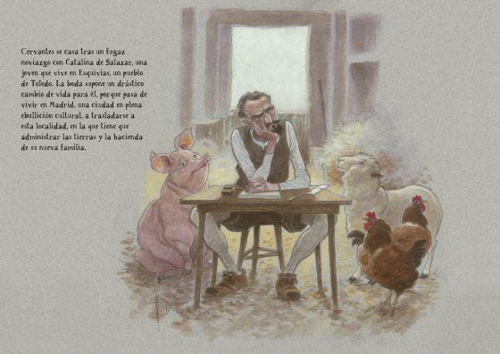 Cervantes, visto por el ilustrador Miguelanxo Prado