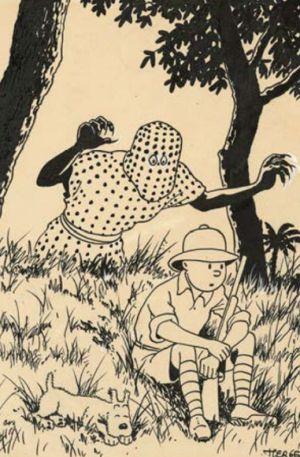 Hergé, multimillonario: 770.600 euros por un dibujo de 'Tintín en el Congo'