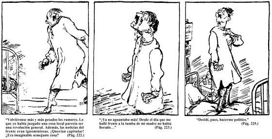 Detalle del tebeo 'Mein Kampf', dibujado por Clément Moreau en 1937 para ridiculizar el libro del dictador