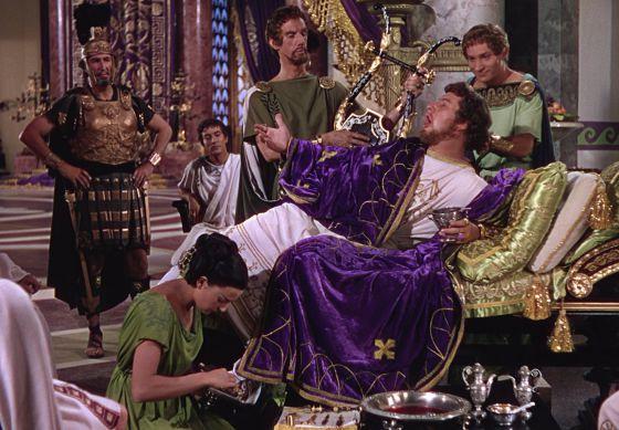 Nerón, en su más perdurable encarnación, la de Peter Ustinov en 'Quo Vadis' (1951), película de Mervyn LeRoy.