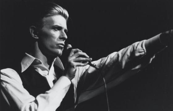 David Bowie, en un concierto.