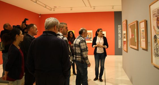 El grupo de enfermos durante una de las sesiones en el museo Thyssen