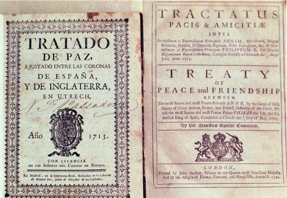 Original del 'Tratado de Utrecht'.