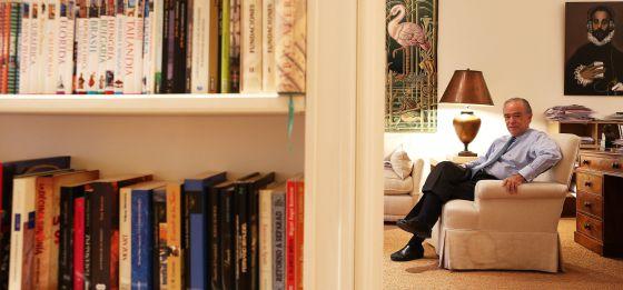 Gregorio Marañón, presidente del patronato del Teatro Real, en su estudio de Madrid, en una imagen del pasado octubre.