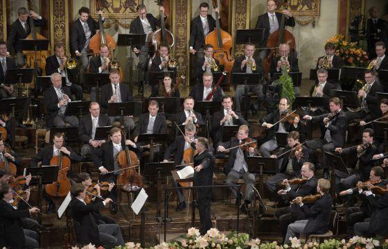 Ensayo general del Concierto de Año Nuevo en la Sala Dorada de la Musikverein, de Viena.