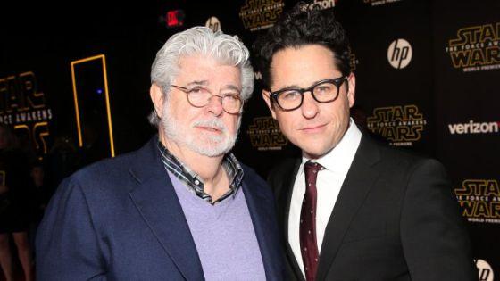 George Lucas y J. J. Abrams, en el estreno de 'El despertar de la Fuerza'