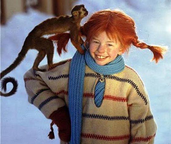 Inger Nilsson, que dio vida a Pippi Calzaslargas en la serie de televisión de 1969.