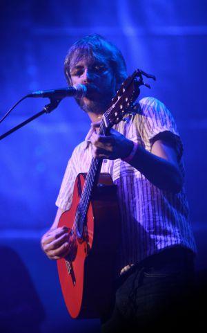 Xoel López durante su actuación.