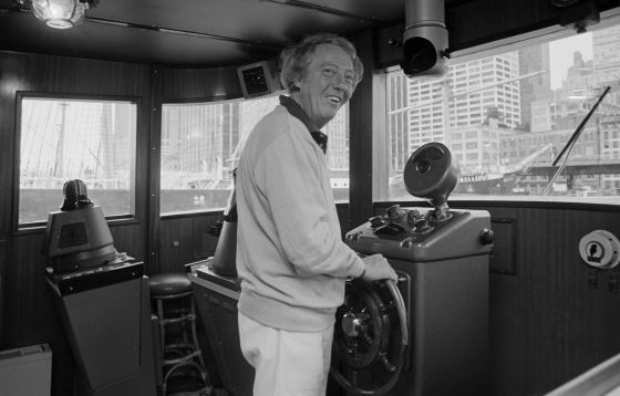 Robert Stigwood en Manhattan, en 1979.