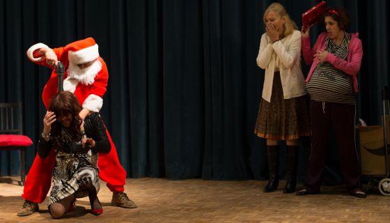 Imagen de la obra de teatro 'Papa Noel es una mierda'.