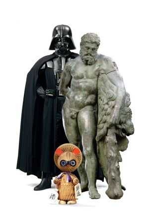 Algunas de las figuras que pueden verse en el Louvre.