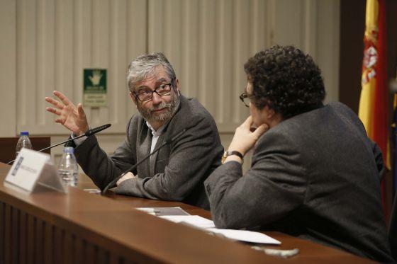 Charla entre Antonio Muñoz Molina y Manuel Rodrigez Rivero.