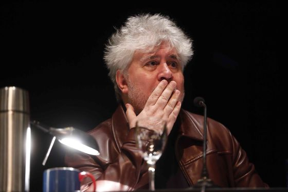Pedro Almodóvar during the masterclass at Madrid's Círculo de Bellas Artes.