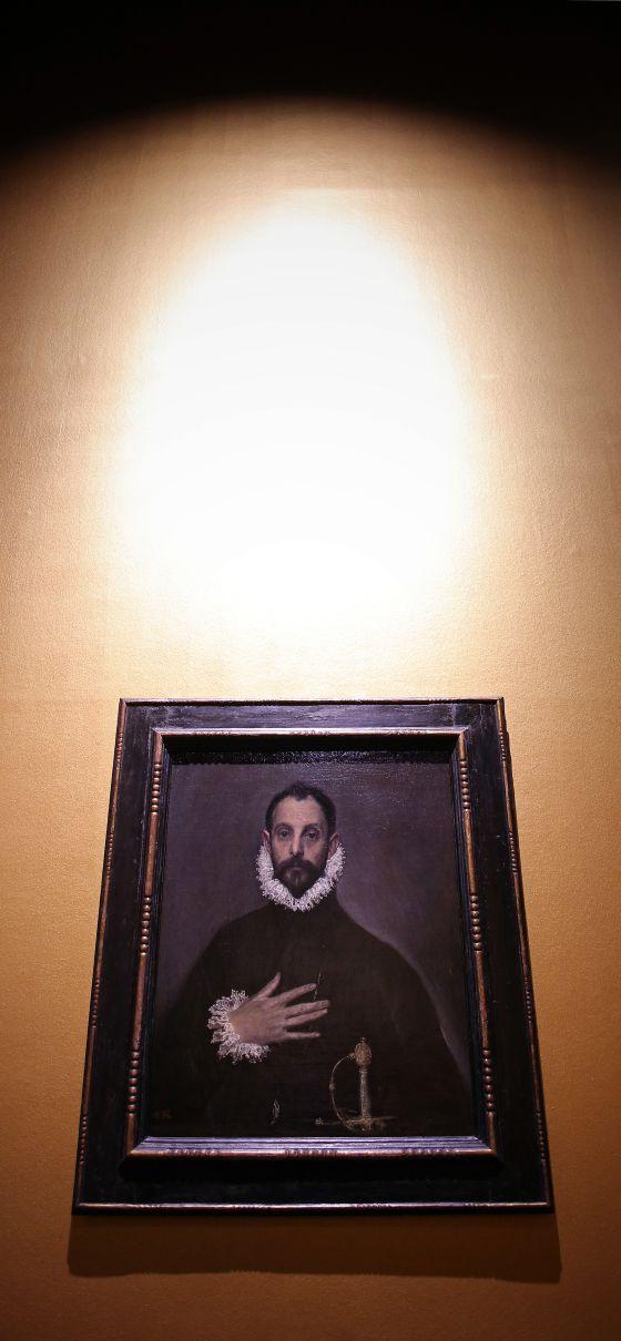 'El caballero de la mano en el pecho', en la exposición 'El griego de Toledo'.