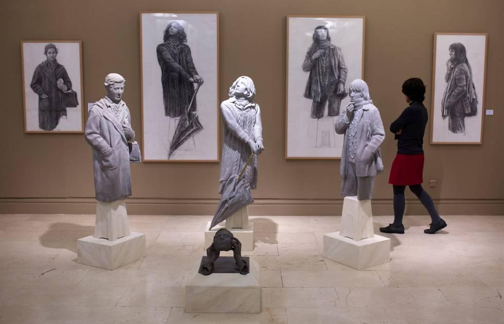 'El camino inverso', exposición de Julio López Hernández en la Academia de Bellas Artes de San Fernando en Madrid.