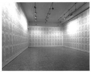 La instalación 'Soliloquy' de Kenneth Goldsmith, que recogía todas las palabras que pronunció durante una semana.