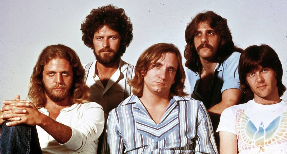 The Eagles: Don Felder, Don Henley, Joe Walsh, Glenn Frey y Randy Meisner