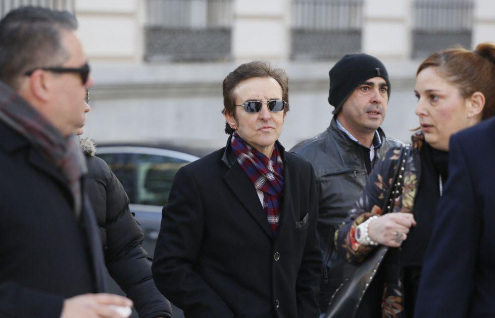 Ramoncín, el pasado diciembre, a su llegada a la Audiencia Nacional.