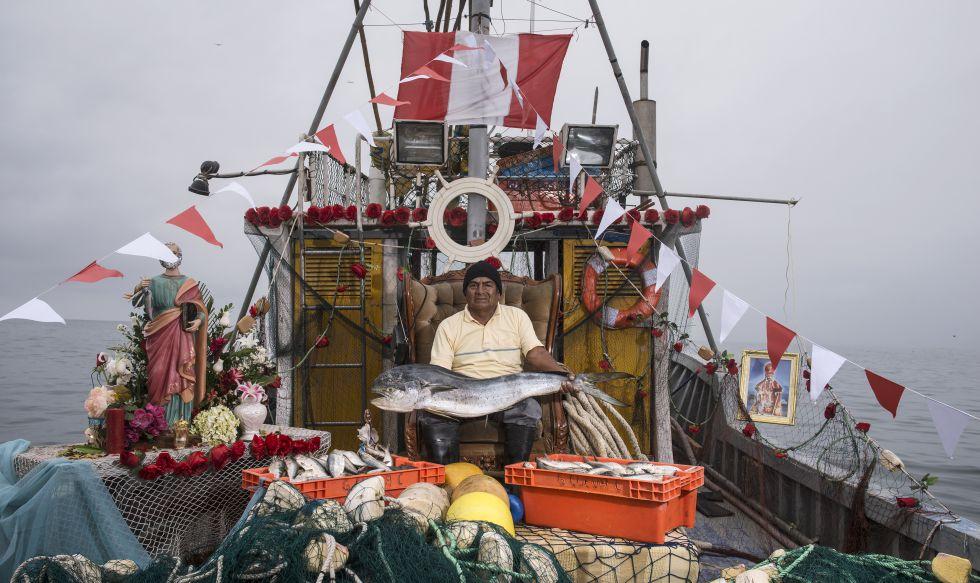 Antenor Chacaliaza, dueño de una flota de embarcaciones.