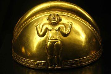 Uma das peças do tesouro quimbaya no Museu da América, em Madri.