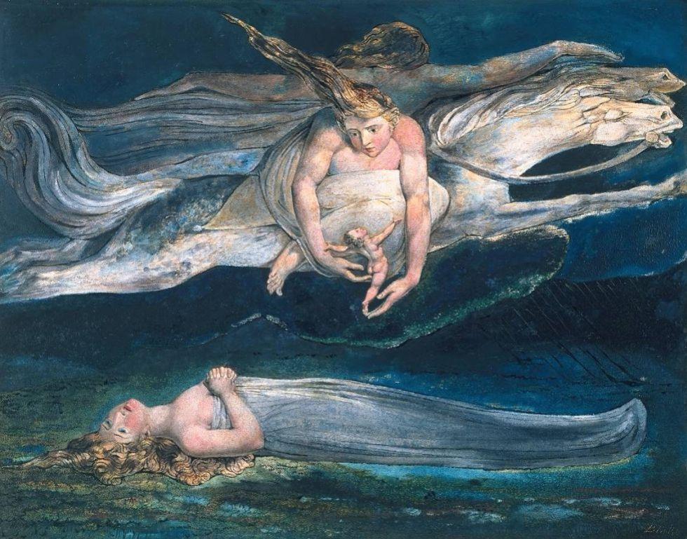 Pity' (1795), de William Blake. Cuadro basado en 'Macbeth'. Colección del British Museum, Londres.