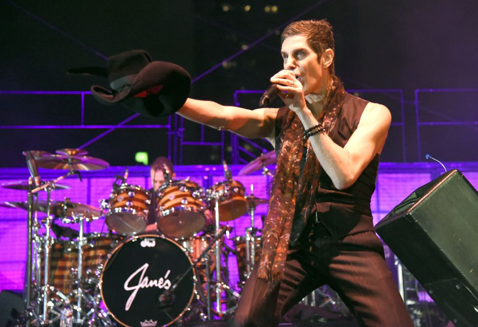 Perry Farrell de Jane's Addiction en un concierto en Austin, Texas.