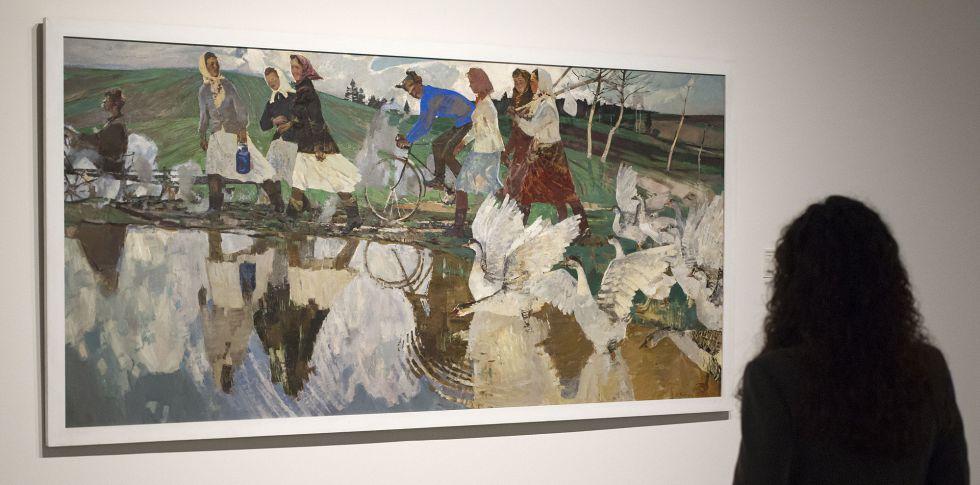 'La mañana' de Viacheslav Zagonek, en el Museo Ruso de Málaga.