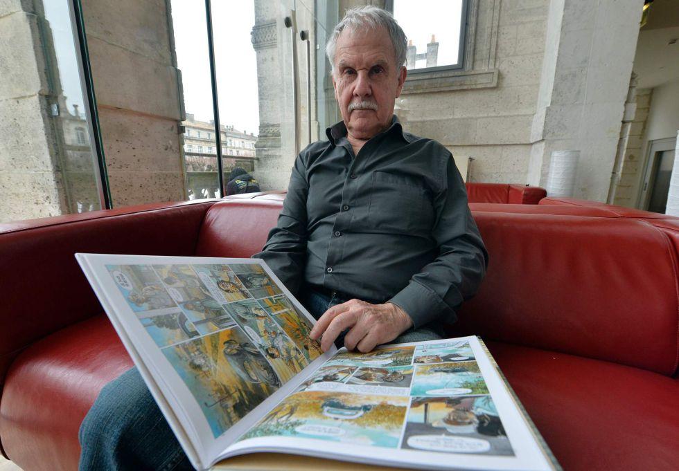 El dibujante de cómics Hermann, poco antes de ser galardonado en el Festival de Angulema.