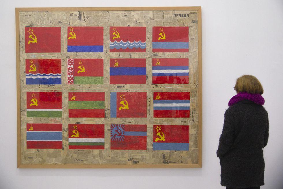 La obra Du Côte de l'URSS realizada en 1985 en técnica mixta sobre papel