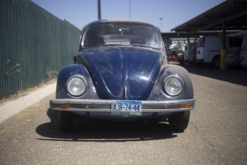 El coche con el que Juan Manuel Aguilar Freeman llegó a Tijuana desde la Ciudad de México en 1995.