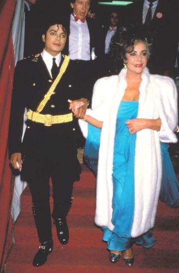 Michael Jackson y Elizabeth Taylor en los 80.