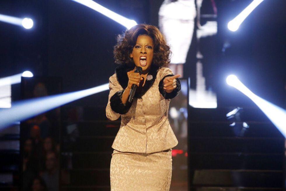 Ruth Lorenzo, ganadora de 'Tu cara me suena', imitando a Jennifer Hudson.