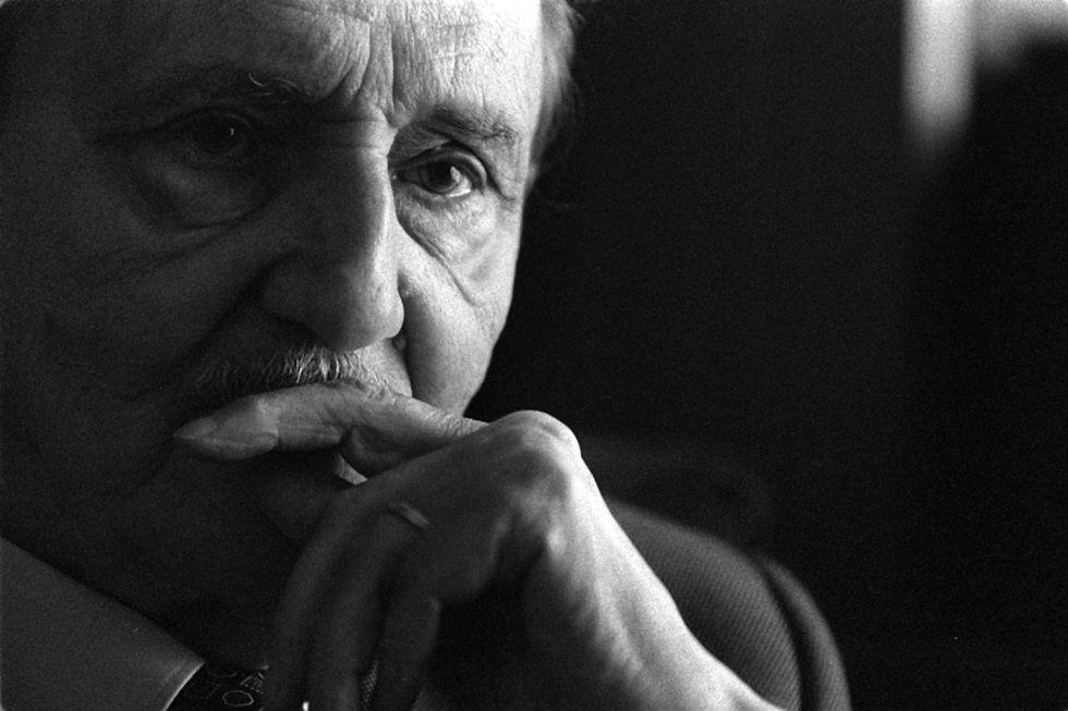 El dramaturgo Antonio Buero Vallejo en 1998.