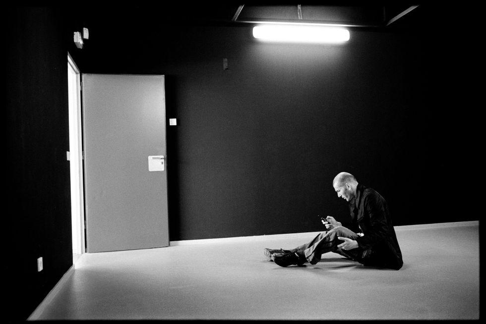 Zidane, en una de las imágenes de la exposición en el Instituto Francés de Cultura en Madrid.