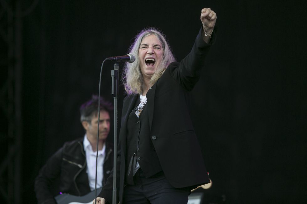 Patti Smith, en el Festival Primavera Sound de Barcelona, en 2015.